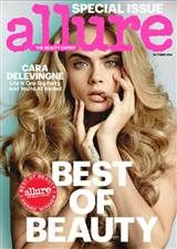 Cara Delevingne stuns on the cover of the October 2014 issue of Allure Magazine. The Best of Beauty issue features Cara photographed by Mario Testino Fashion Magazine Cover, Cool Magazine, Fashion Cover, Magazine Ads, Mario Testino, Poppy Delevingne, George Clooney, Reese Witherspoon, Cara Delevingne Magazine Covers
