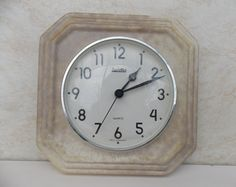 Ceramic wall clock, vintage wall clock, white clock, germany clock, working clock, Zentra Wall clock, Made in germany, Kitchen decor White Clocks, Kitchen Decor, Germany, Quartz, Ceramics, Unique Jewelry, Wall, How To Make, Etsy