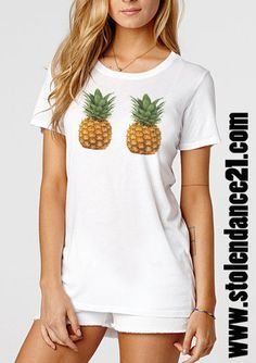Pineapple Boobs Tee Crew Neck Top T shirt code20805