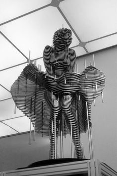 Sliced Image and Steel Nut Sculptures by Park Chan-girl
