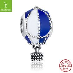 Fashion 925 Sterling Silver Up And Away Charm With Pearl Fit Original Pandora Bracelet Necklace Authentic Jewelry ALX-SCJS ALX-SCJS