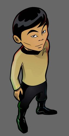 Star Trek: Old School Sulu by ~inneryoung on deviantART. Star Trek Gifts, Star Trek Merchandise, Star Trek Show, Star Trek Images, Star Trek Characters, Star Trek Original, Star Trek Universe, Uss Enterprise, Weird Art