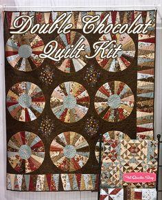 Double Chocolat Moda Quilt Kit 3 Sisters for Moda Fabrics - Fat Quarter Shop