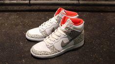 """Nike Dunk Hi Skinny """"Leopard"""" Pack - White/Grey"""