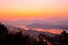 Sunset over Mekong #Laos
