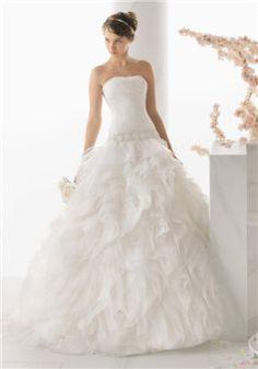Fantasy Ball Gown Strapless Tulle Sleeveless Floor Length Bridal Gown - 1300300260B - BellasDress