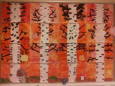 Luokan yhteistyönä toteutetttu syksyinen seinä (FB:n Alakoulun aarreaitta -sivustostta / Sari Salo) Autumn, Painting, Sari, Fall, Saree, Fall Season, Painting Art, Paintings, Sari Dress