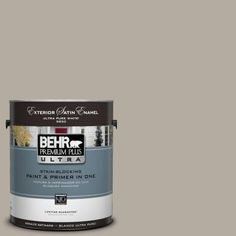 BEHR Premium Plus Ultra 1-Gal. #UL260-8 Perfect Taupe Satin Enamel Exterior Paint - 985401 - The Home Depot $38.98