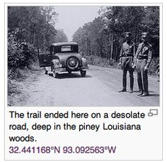 The travels of Bonnie and Clyde