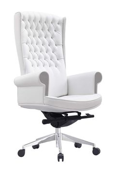 20 Stylish and Comfortable Computer Chair Designs White leather