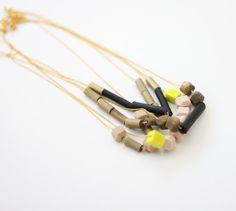 mix bead neutrals necklace no. 6