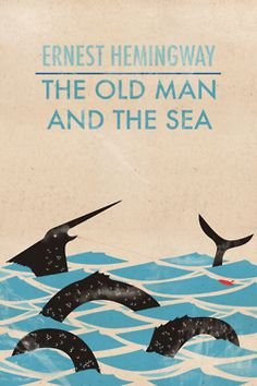 Hemningway, The Old Man and The Sea book cover - unknown designer