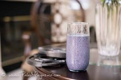 High Protein Raw Egg Shake With Blueberry, Avocado, and Green Tea [Paleo, Dairy-Free] #paleo #recipes #glutenfree http://paleomagazine.com/high-protein-paleo-raw-egg-shake