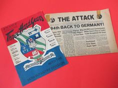 2 Vintage 94th Infantry Division The Attack Newspaper Czechoslovakia Nov 15 1945