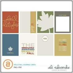 Includes 8 3x4 Fall themed journal cards