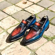 Leather Loafers Dress Shoes for Men Oxfords, Mens Loafers Shoes, Leather Loafers, Loafer Shoes, Penny Loafers, Shoes Men, Men's Shoes, Suede Ankle Boots, Shoe Boots