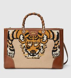 Bamboo Shopper Embroidered Tote