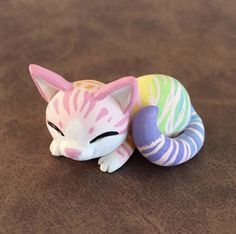 Pastel Rainbow Cat by Dragonsandbeasties