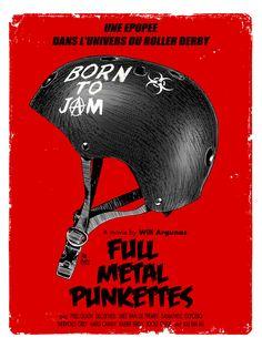 AFFICHE ROLLER DERBY PASTICHE FULL METAL JACKET : Affiches, illustrations, posters par la-pure-fucking-boutik