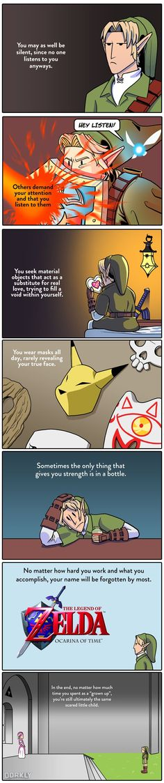 #LegendofZelda Ocarina of Time is a metaphor for life comic #Dorkly