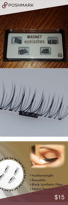 Magnetic false eyelashes NIB Place the top lashes on and then secure the bottoms with the magnet. Reusable! Accessories