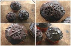 Cool Steampunk DIY Ideas - DIY Steampunk Cupcakes - Easy Home Decor, Costume Ideas, Jewelry, Crafts, Furniture and Steampunk Fashion Tutorials - Clothes, Accessories and Best Step by Step Tutorials - Creative DIY Projects for Adults, Teens and Tweens