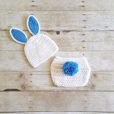 0f4dda9f059 Crochet Baby Easter Bunny Hat Beanie Diaper Cover Set Infant Newborn Baby  Handmade Photography Prop Baby Shower Gift Present Spring Easter