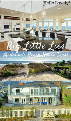 Big Little Lies: Madeline& Beach House Photos [It& in Malibu, Not Monterey! Beach House Tour, Beach House Bedroom, Dream Beach Houses, Big Beach Builds, Oceanfront Vacation Rentals, Cape Cod Beaches, Beachfront House, Beach House Kitchens, Big Little Lies