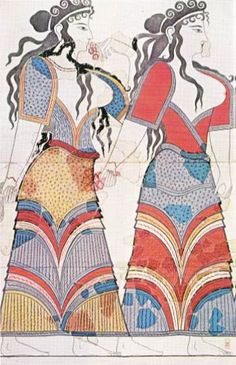 Mycenaean hair- Thera fresco