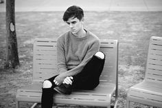 "(Connor Franta) ""Hey, I'm Connor. I'm really protective and I care a lot. I'm…"