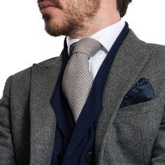 Houndstooth Cashmere Tie - Black.co.uk