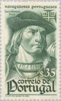 Stamp: Bartolomeu Dias (c.1451 – 1500) (Portugal) (Navigators) Mi:PT 675,Sn:PT 644,Afi:PT 646