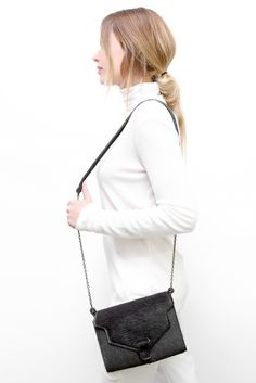 #Leather #bag #MIKA - #MadeinBelgium - 209.00 - http://www.mayenne-nelen.com/product/mika-grey-pony?ref=category-own-collection-women