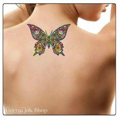 Temporary Tattoo Butterfly Waterproof Fake Tattoo by UnrealInkShop