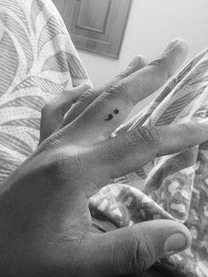 Semi colon #Finger tattoo