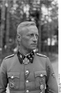 Max Hansen, here as a SS-Sturmbannführer of the Waffen-SS, terminated the war with the rank of colonel. The winner of the Knight's Cross with Oak Leaves, Hansen fought throughout the war with the  Leibstandarte SS Adolf Hitler.  He fought in Russia and took part in the Ardennes Offensive and the offensive in Hungary, Operation Spring Awakening in 1945 as commanding colonel of 1.SS Panzer Grenadier Regiment. He survived the war and died in 1990.