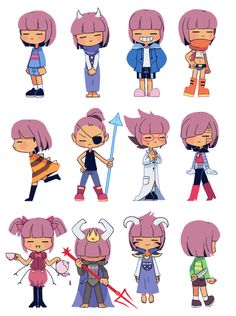 Frisk outfits