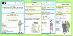 Use these BFG drama activity ideas to inspire further thinking at crucial points in the text and develop understanding of different characters. Activities include an imaginary telephone call, freeze frame, hot seating, 'be an object' activity and ph Roald Dahl The Twits, Roald Dalh, Roald Dahl Day, Bfg Activities, Roald Dahl Activities, Drama Activities, The Bfg Book, Reading Projects, Primary Resources