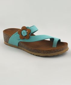 Look at this BioNatura Turchese Naples Leather Sandal on #zulily today!