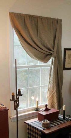 schlichte gardinen in erdnuancen