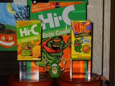 This is my Ecto Cooler display. These are original boxes and they are tough to find especially unopened. Enjoy the display! (NOT FOR SALE)