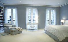 Distintos tonos de azul para pintar tu casa Decoración de habitación gris Colores para dormitorio Colores de interiores