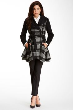 Plaid Skirted Coat by Laundry By Shelli Segal on @nordstrom_rack