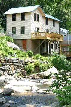 Bat Cave River Cottages, on the river in the Mountains of Bat Cave Western North Carolina