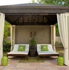 Patio Style– Expanding Your Residence Outdoors – Outdoor Patio Decor Indoor Outdoor Carpet, Outdoor Rooms, Outdoor Living, Outdoor Decor, Outdoor Daybed, Large Backyard Landscaping, Backyard Patio, Backyard Cabana, Outdoor Cabana