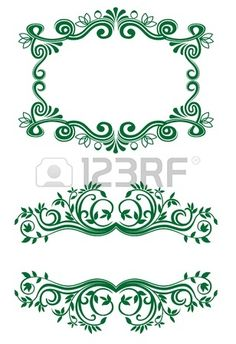 Vintage floral decorations isolated on white for design Stock Vector