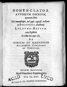 Universiteitsbibliotheek Leiden - oudste gedrukte catalogus van een institutionele bibliotheek
