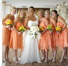 Light Orange Bridesmaid Dresses