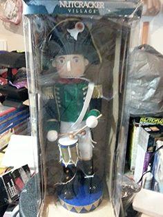 Nutcracker Village Drum Soldier in Green Uniform 18  High *** Click image for more details.