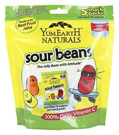 Yummy Earth  All Natural Gluten Free Sour Jelly Beans  5 Packs pack of 2 >>> Learn more by visiting the image link.